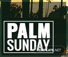 Free Palm Sunday Facebook Post Template