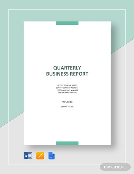 quarterly business report
