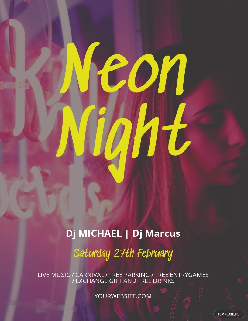 Neon Style Flyer Template