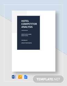 Hotel Competitor Analysis Template