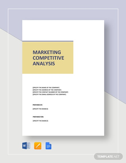 Marketing Competitive Analysis Template