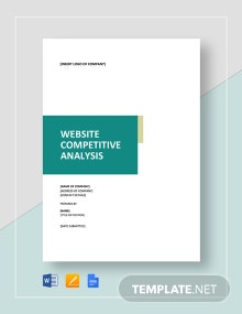 Website Competitive Analysis Template