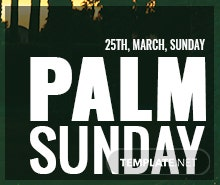 Free Palm Sunday LinkedIn Post Template