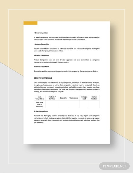 Competitor SWOT Analysis Download