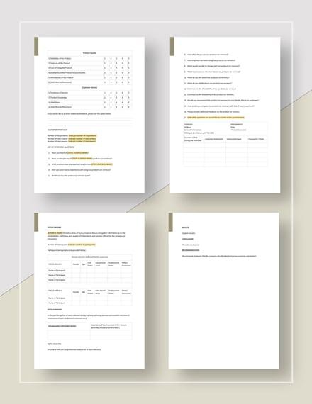 Customer Needs Analysis Download