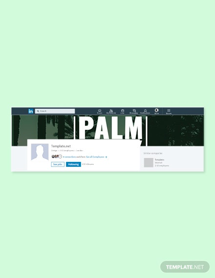 Free Palm Sunday LinkedIn Company Cover Template