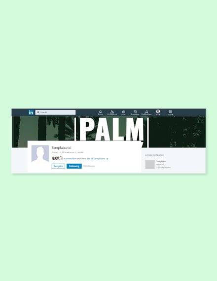 Free Palm Sunday LinkedIn Company Cover Template