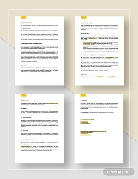 Marketing Campaign Contract Download
