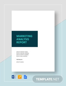 Marketing Analysis Report Template