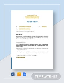 Action Memo Template