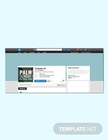 Free Palm Sunday LinkedIn Profile Banner Template