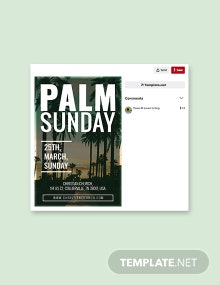 Free Palm Sunday Pinterest Pin Template