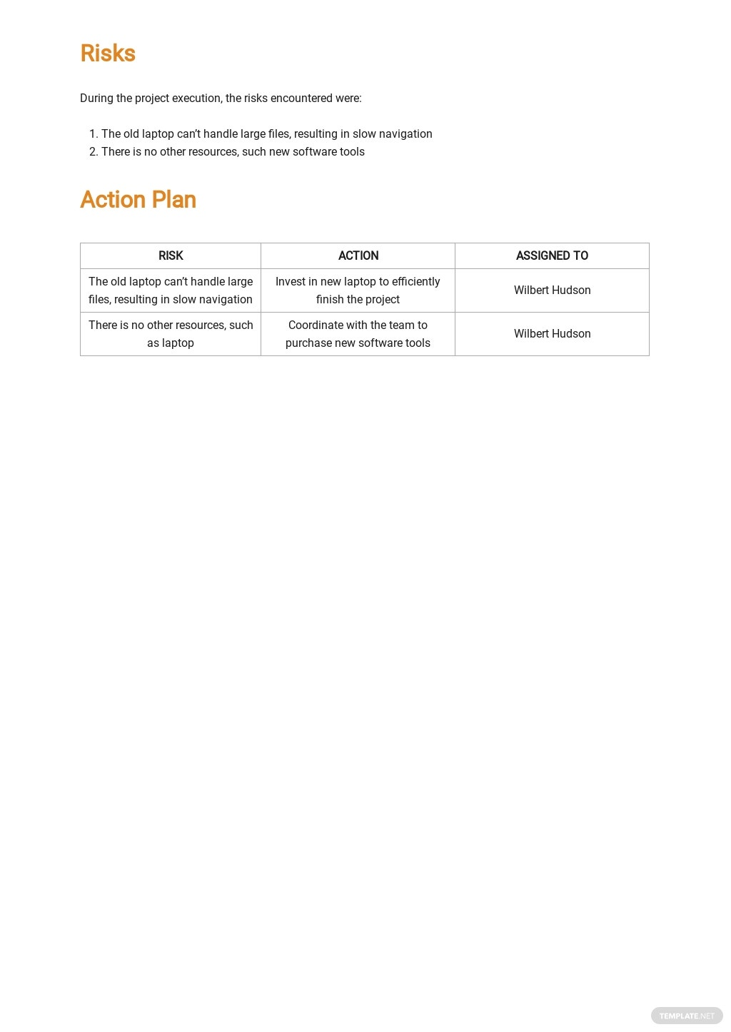 Project Summary Report Template 2.jpe
