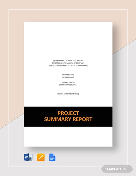 8 Project Summary Templates Free Word Pdf Document Download