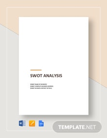 Sample SWOT Analysis Template