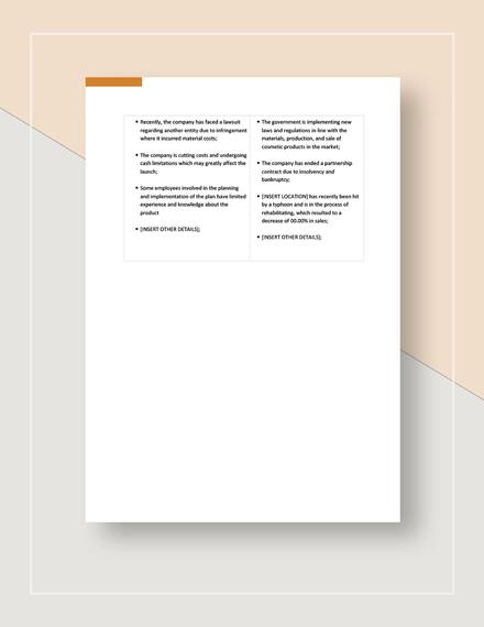 Sample SWOT Analysis Download