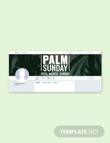 Free Palm Sunday Twitter Header Cover Template