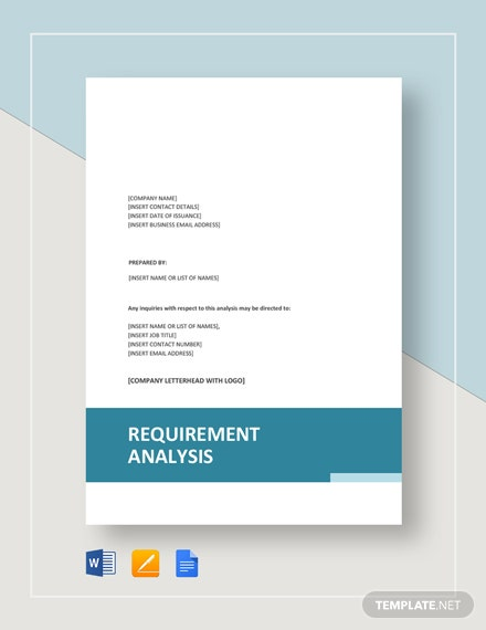 Requirements Analysis Template