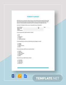 Parent Survey Template