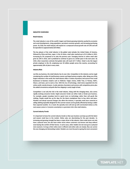 Retail SWOT Analysis Template