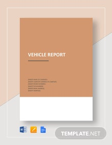 Vehicle Report Template