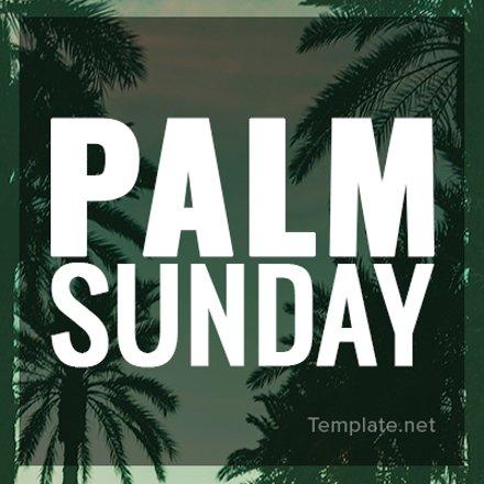 Free Palm Sunday Twitter Profile Photo Template