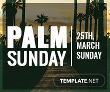 Free Palm Sunday YouTube Profile Photo Template