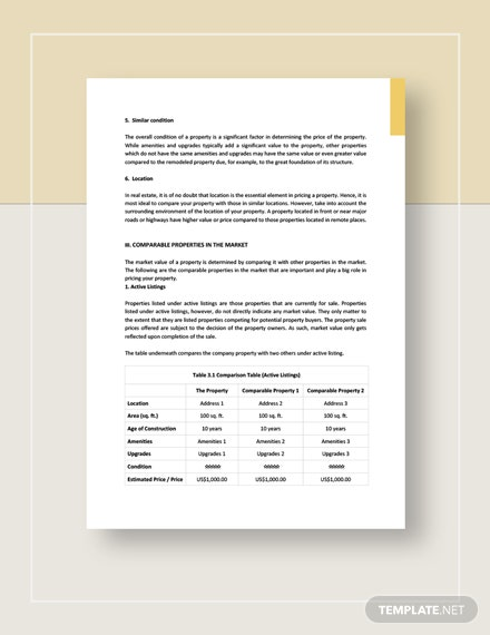 Comparative Market Analysis Download