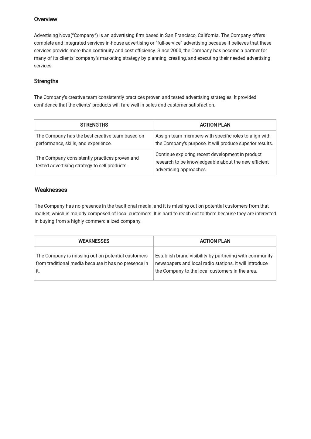 Advertising SWOT Analysis Template 1.jpe