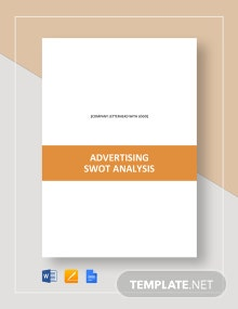 Advertising SWOT Analysis Template