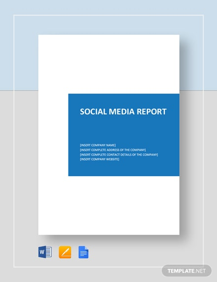 Social Media Reports Template from images.template.net