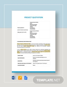 Project Quotation Template
