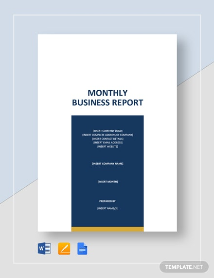 Monthly Business Report Template