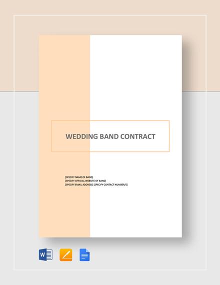 Wedding Band Contract