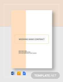 Wedding Band Contract Template