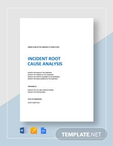 Incident Root Cause Analysis Template