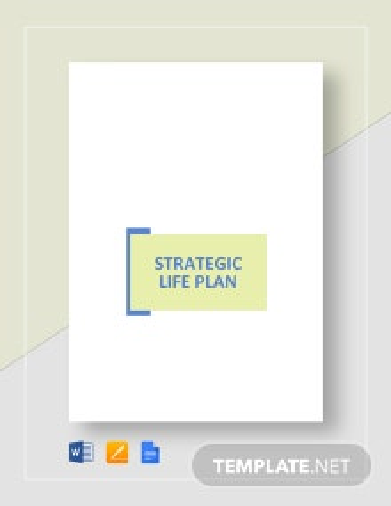 Strategic Life Plan Template