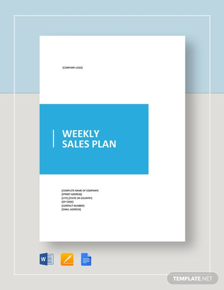 Weekly Sales Plan Template