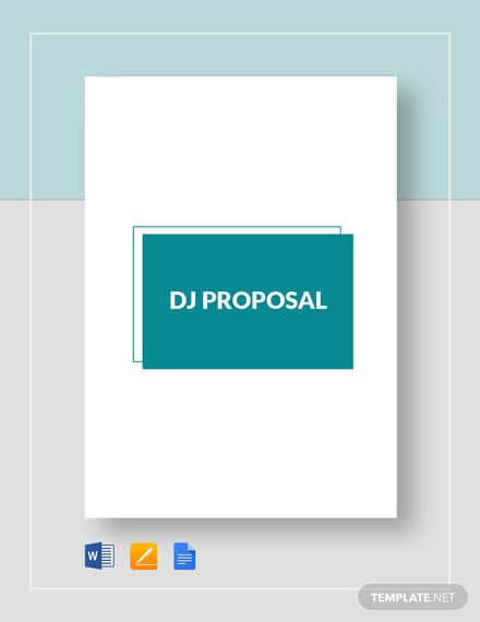 DJ Proposal Template