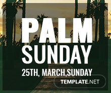 Free Palm Sunday Tumblr Banner Template