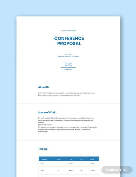 Conference Proposal Template