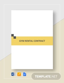 Gym Rental Contract Template