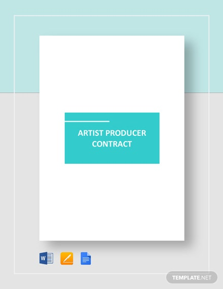 Artist Producer Contract Template