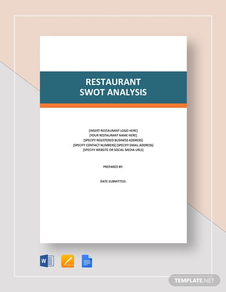 Restaurant SWOT Analysis Template