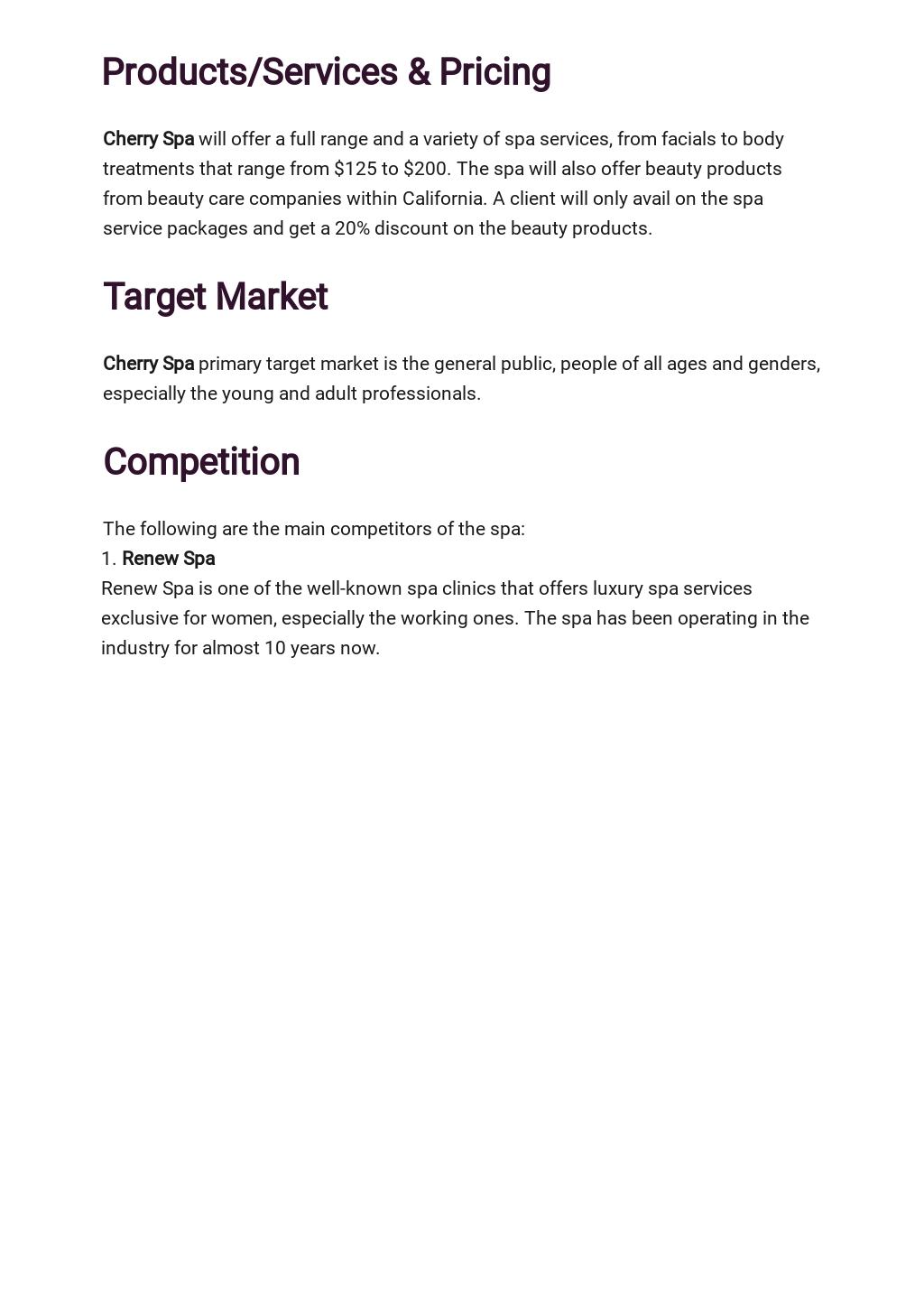 Spa Business Plan Template 2.jpe
