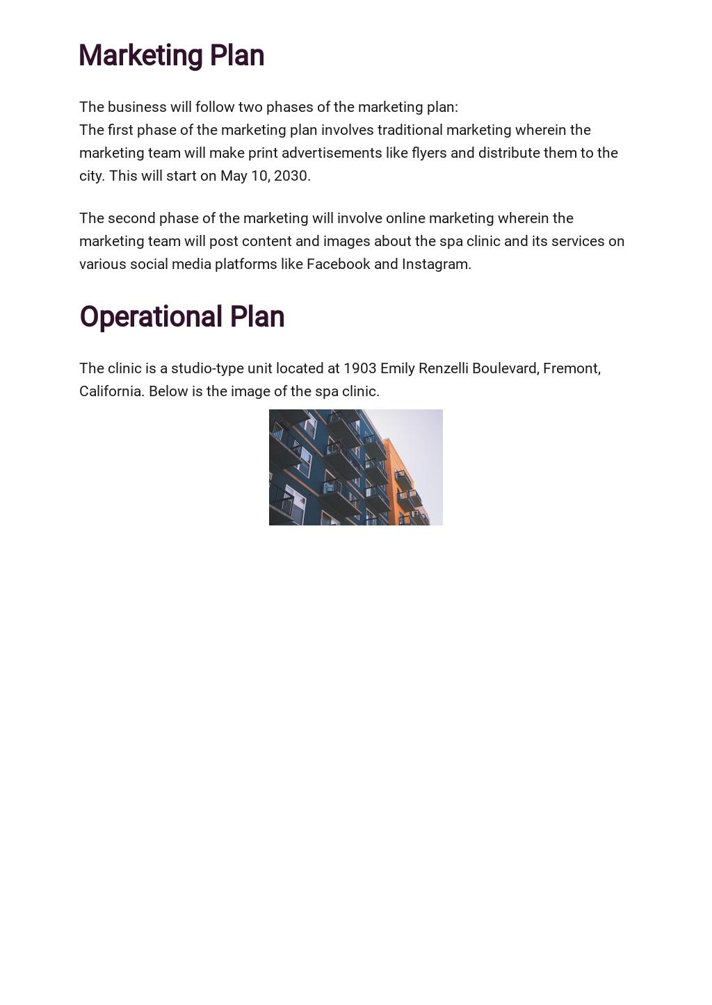 Spa Business Plan Template 4.jpe