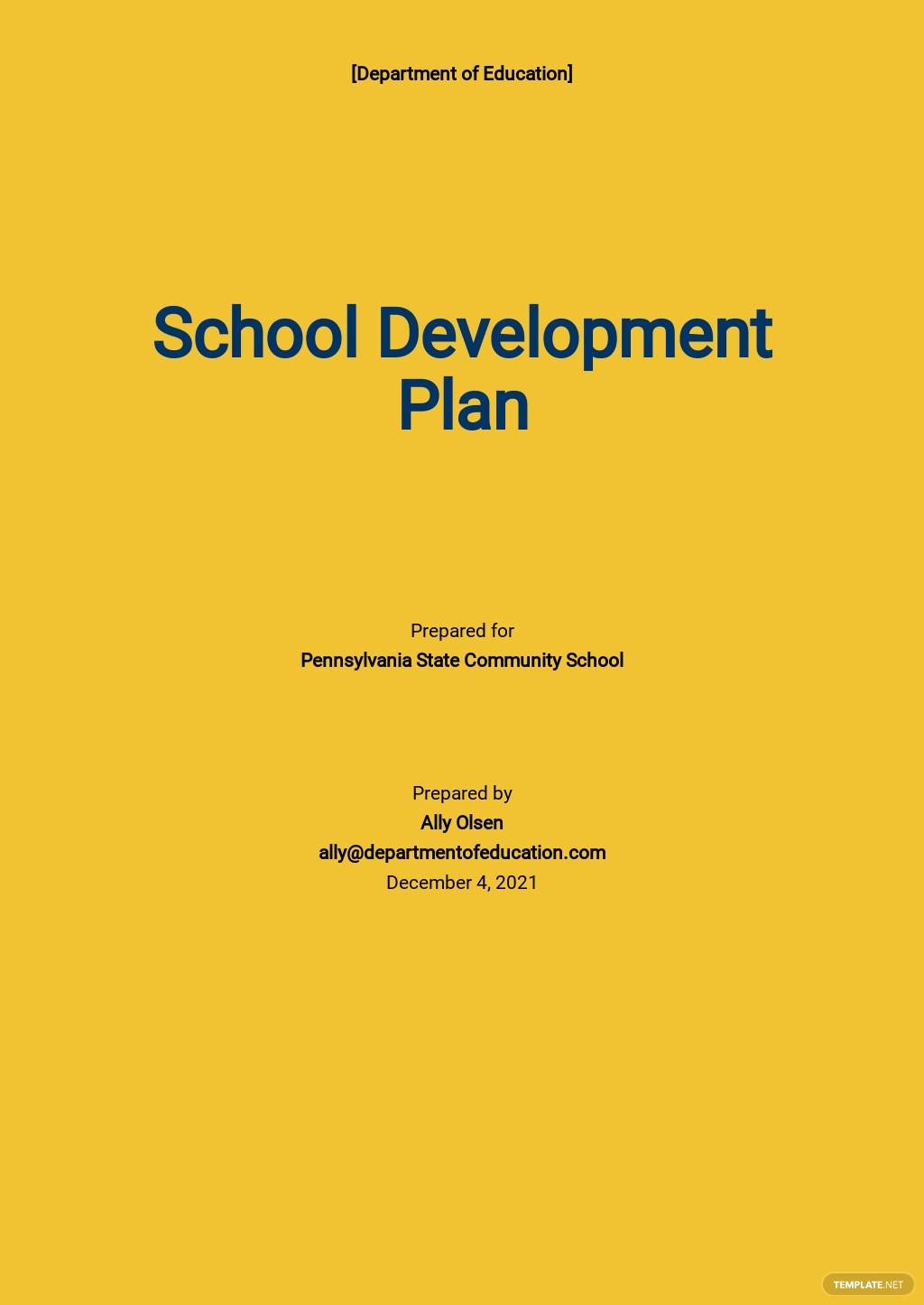School Development Plan Template.jpe