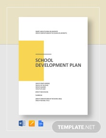 School Development Plan Template