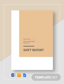 Shift Report Template