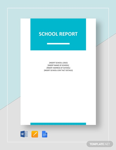 School Report Template